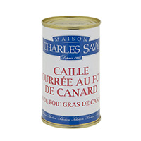 Can of quail stuffed with duck liver 40% 190 gr