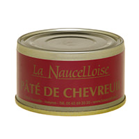 Can of venison pâté 25% 125 gr