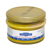 Can of duck foie gras jar 130 gr