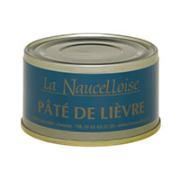 Can of hare pâté 25% 125 gr