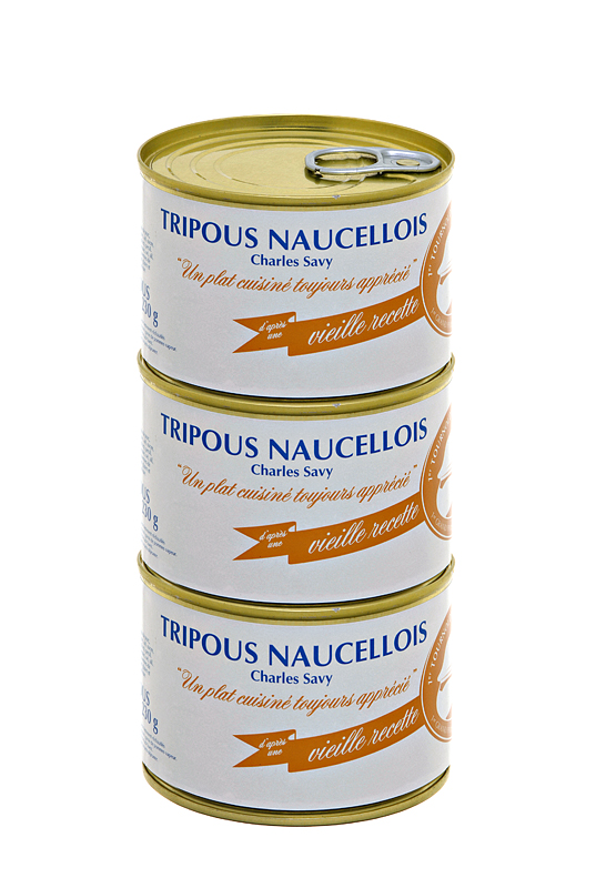 Set of 3 cans of Charles Savy tripous 230g