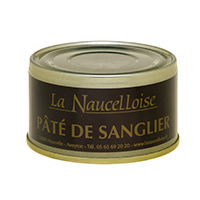 Can of boar pâté 25% 125 gr